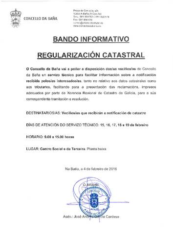 REGULARIZACIÓN CATASTRAL